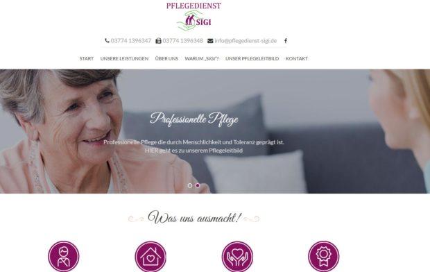Pflegedienst Webdesign